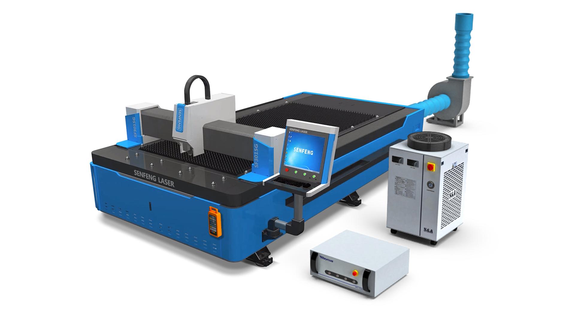 Комплектация волоконного лазерного станка Senfeng SF3015G