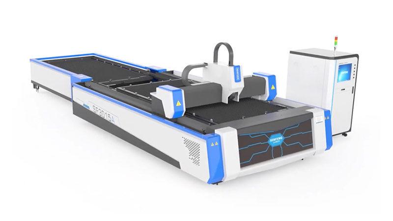 Волоконный лазерный станок со сменными столами (паллетами) Senfeng SF3015A3
