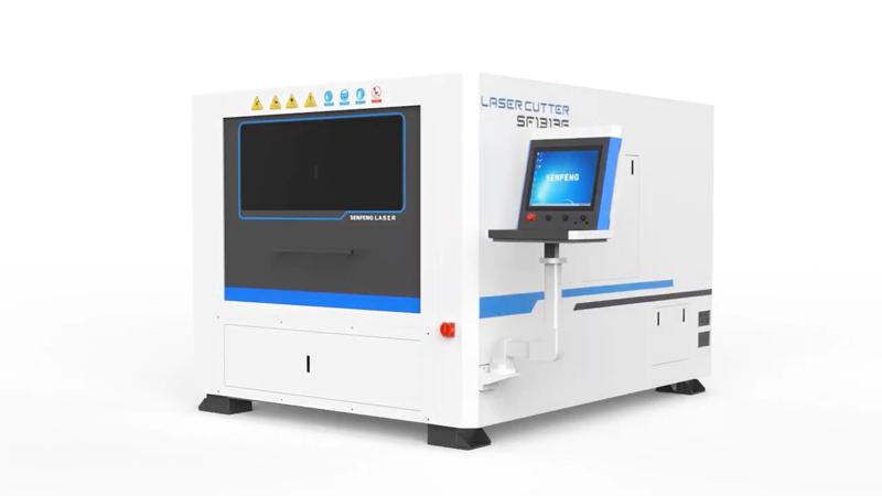 Волоконный лазерный станок c защитной кабиной Senfeng SF1313G