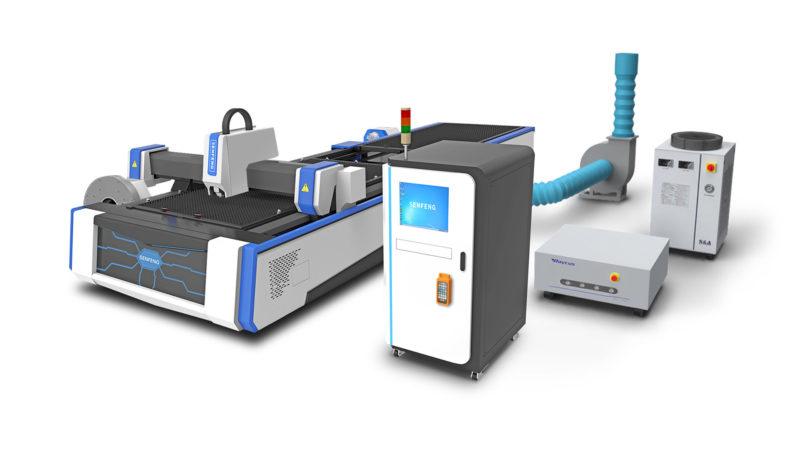 Комплектация волоконного лазерного станка Senfeng SF3015AM